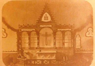 19th century photograph of the former church building