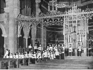 photo of choir procession in 1900