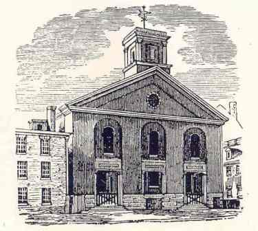 engraving of Green Street church