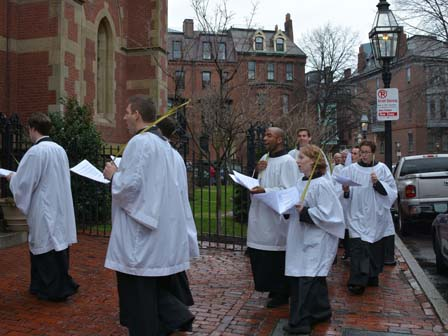 Choir in procession