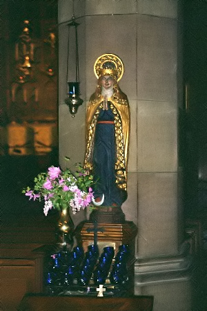 Lady Shrine in the nave