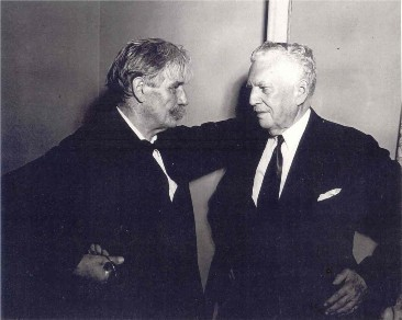 1949 photo of G. Donald Harrison and Albert Schweitzer