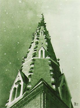 painting of the belltower